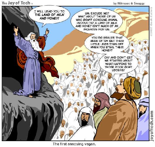Visuel représentant un cartoon de Moïse s'adressant aux Hébreux