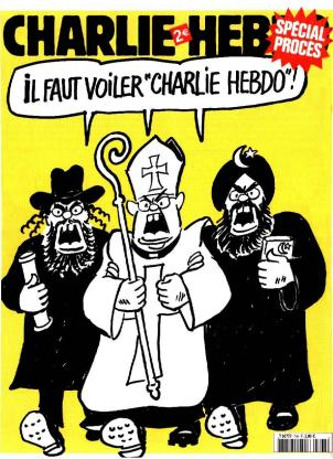 Couverture Charlie Hebdo procès Jewpop