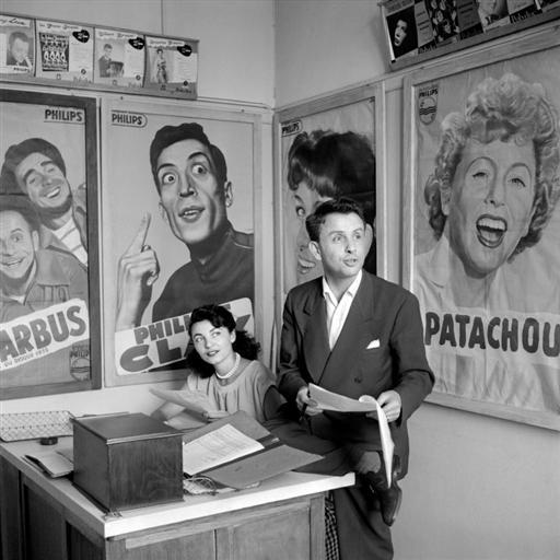 Photo de Jacques Canetti dans ses bureaux Jewpop