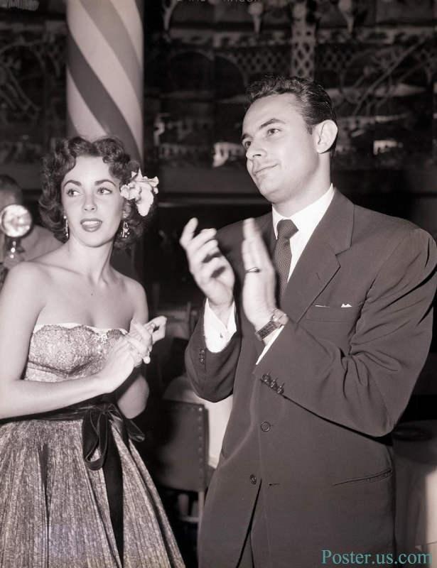 Photo représentant Stanley Doene et Liz Taylor dans les années cinquante Jewpop