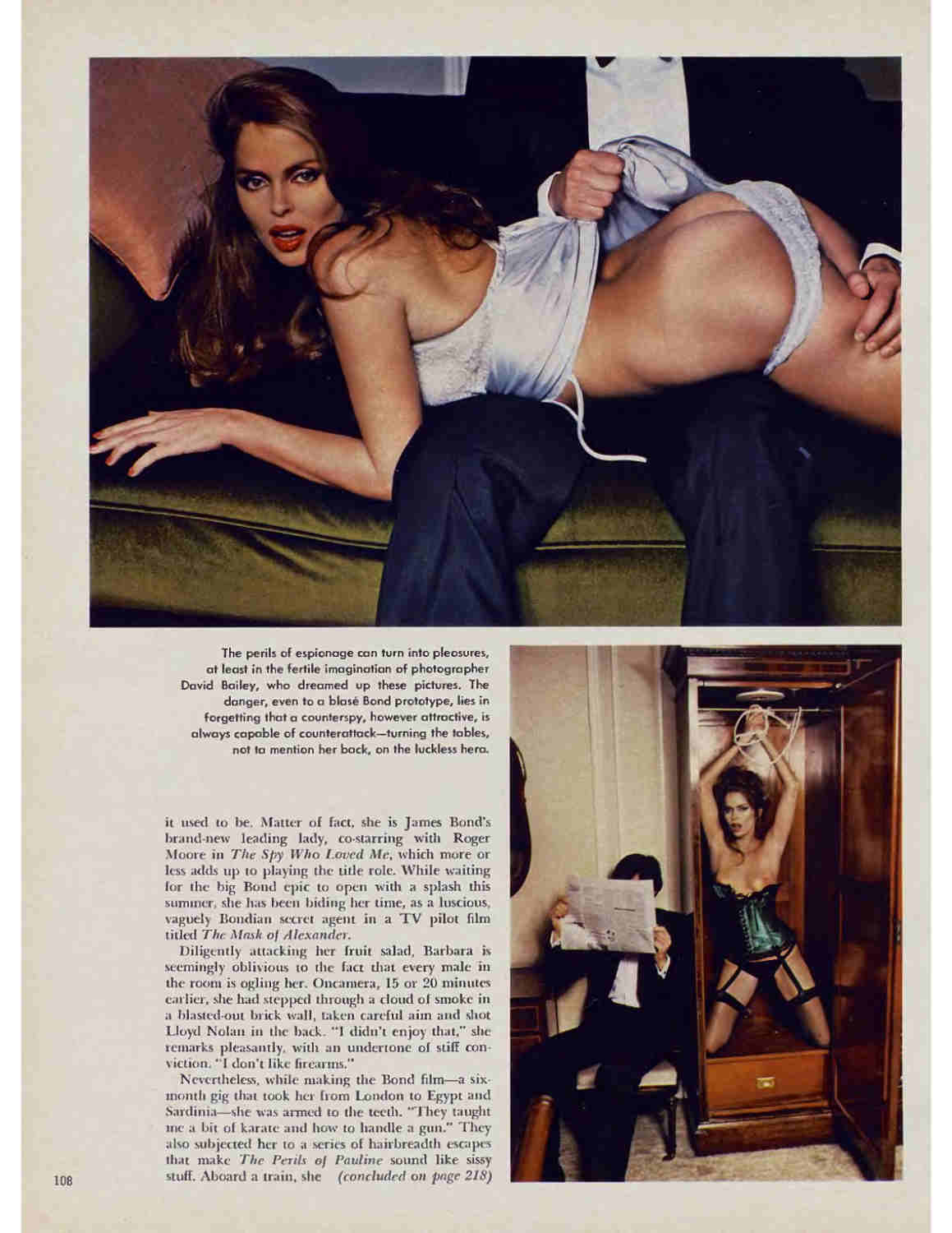 Photo Playboy 1977 de Barbara Bach Jewpop