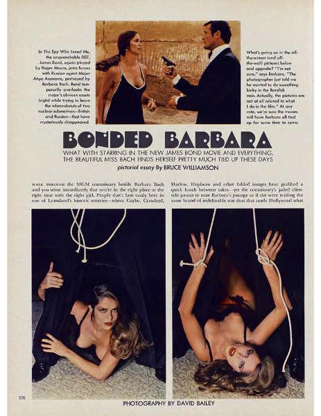 Photo extraite du magazine Playboy avec Barbara Bach Jewpop
