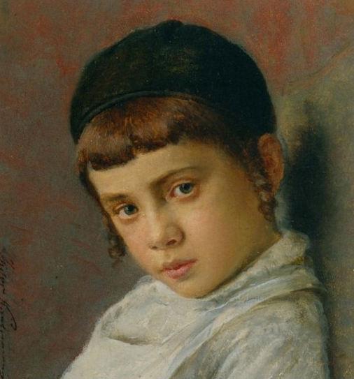 Portrait d'un enfant juif orthodoxe par Isidore Kaufmann Jewpop