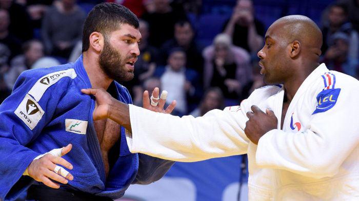 Photo représentant les judokas Teddy Riner et Or Sasson Jewpop