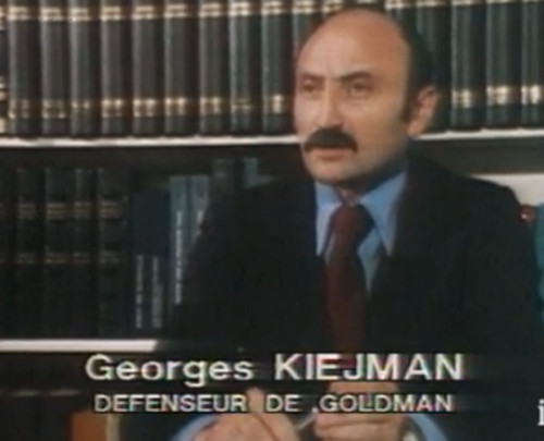 Photo de georges Kiejman avocat de Pierre Goldman Jewpop