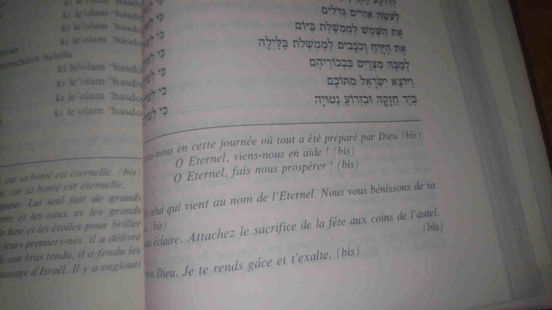 Photo représentant une page de livre de prières Pessah Jewpop