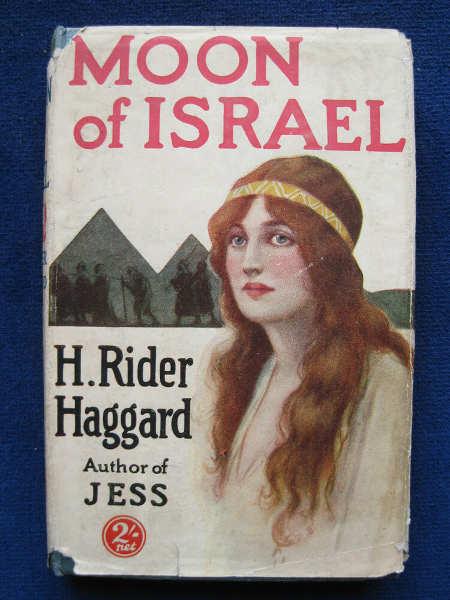 """Couverture du roman de H. Rider Haggard """"Moon of Israel"""" Jewpop"""
