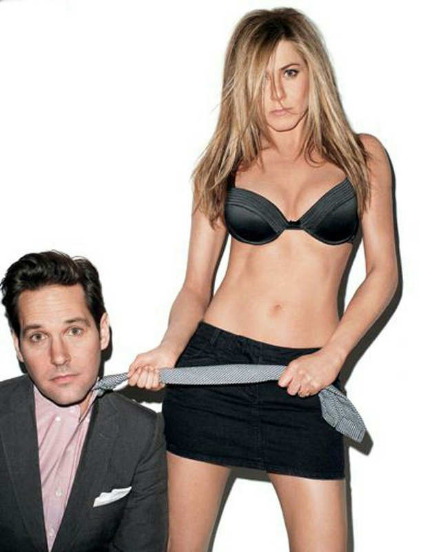 Photo de Paul Rudd et Jennifer Aniston pour le magazine GQ Jewpop