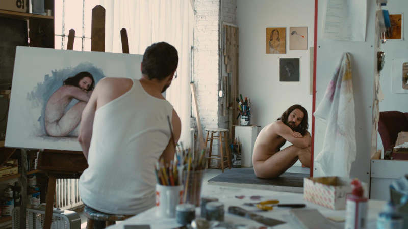 Photo de Paul Rudd posant nu pour un peintre extraite du film Our Idiot Brother Jewpop