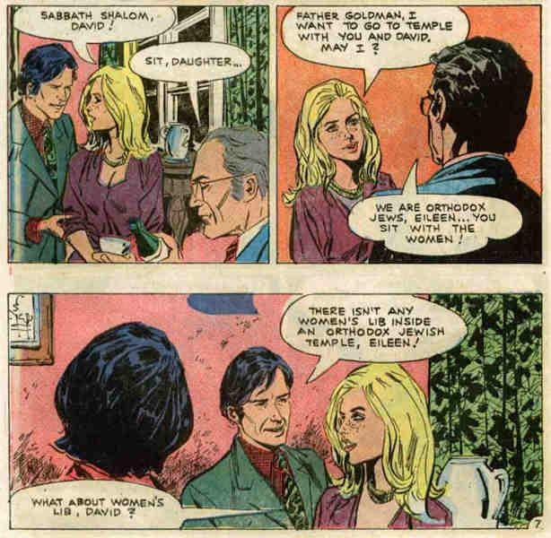 Extrait d'une bande dessinée sur les relations juifs et non-juifs Jewpop