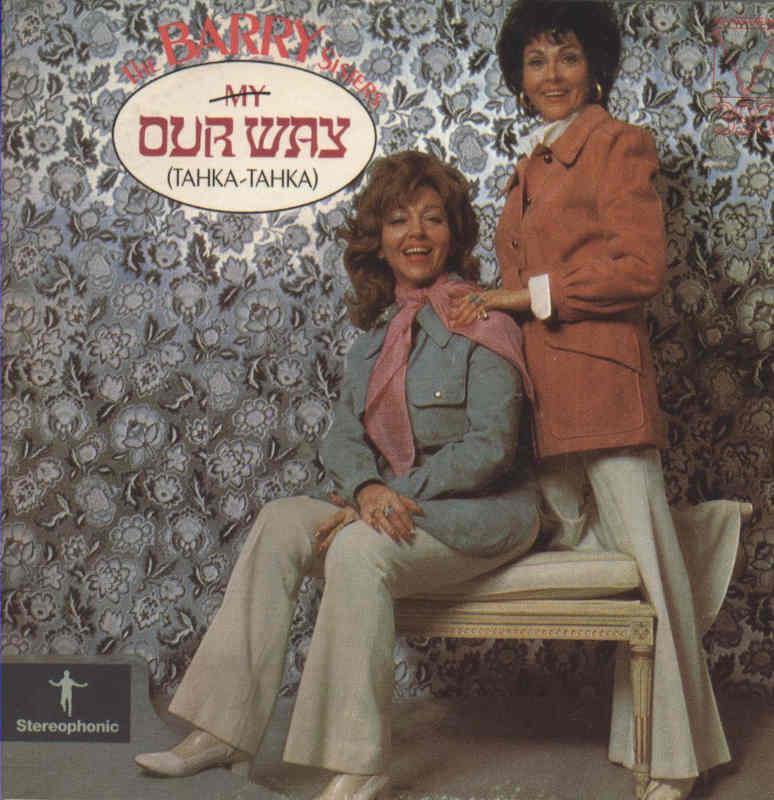 Photo de la pochette du disque Our Way Barry Sisters Jewpop