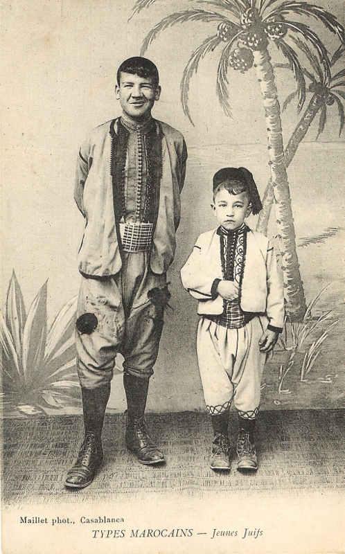 Cartes postale représentant des juifs marocains Jewpop