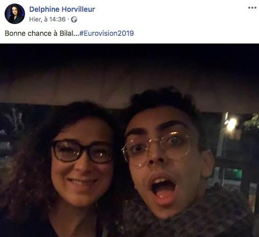 Photo représentant Delphien Horvilleur et Bilal Eurovision Jewpop