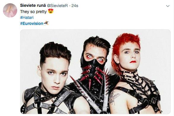 Photo représentant le groupe Hatari Eurovision jewpop