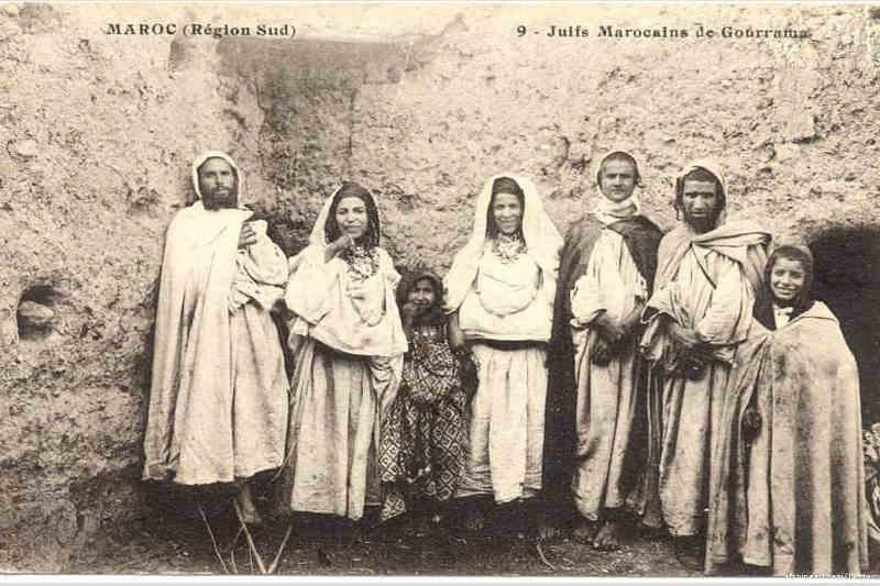 Carte postale représentant des juifs marocains de Gourrama Jewpop