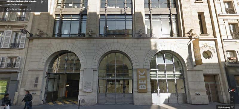 Photo représentant la façade l'immeuble Lévitan aujourd'hui siège de l'agence BETC Jewpop