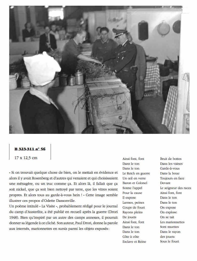 Photo représentant un officier nazi dans les magasins Lévitans Jewpop