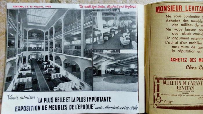Publicité pour les magasins Lévitan Jewpop