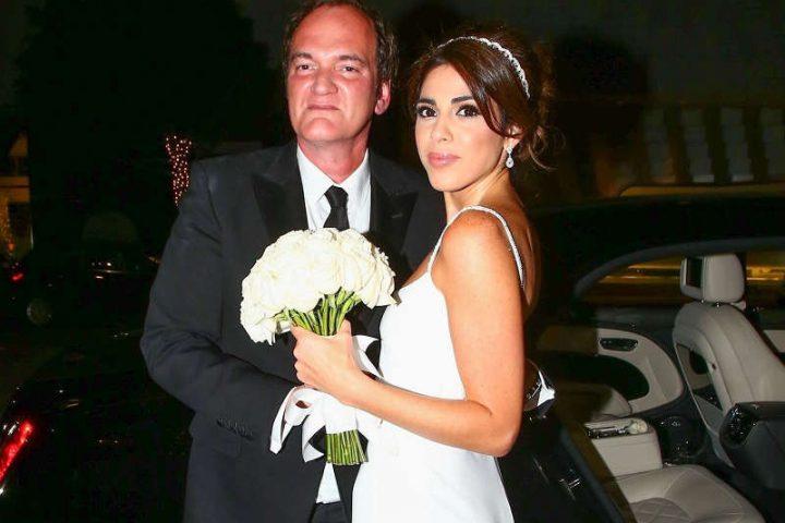 Photo représentant Quentin Tarentino et Daniella Pick lors de leur mariage Jewpop