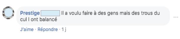 Commentaire Facebook bac fuite Jewpop