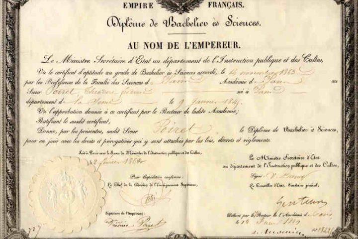 Diplome de bac ancien Jewpop