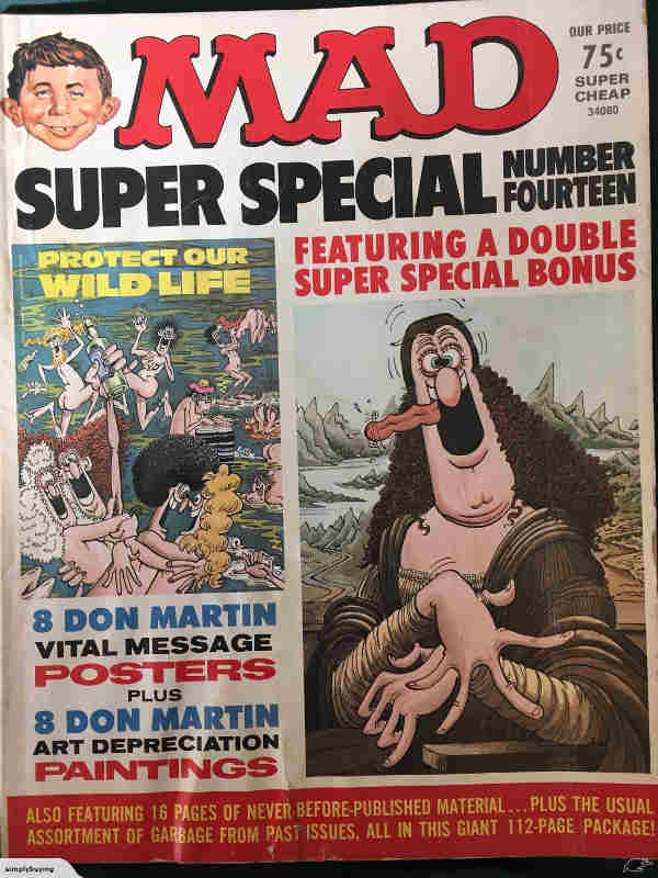 Couverture du magazine Mad dessins de Don Martin Jewpop