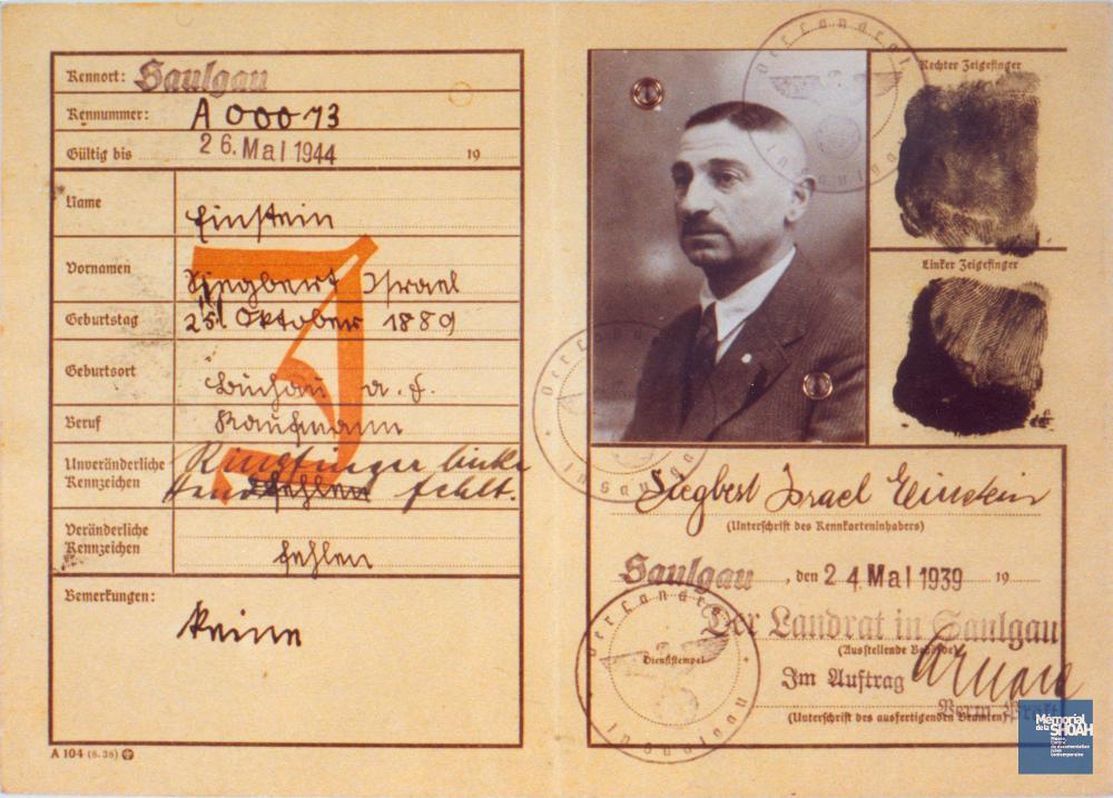 Carte identité juif allemand Jewpop
