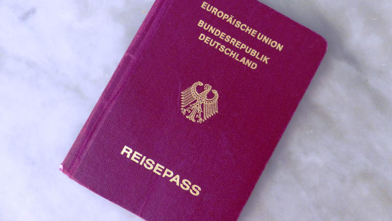 Photo d'un passeport allemand Jewpop