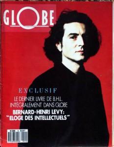 Couverture du magazine de Georges-Marc Benamou Globe figurant BHL Jewpop