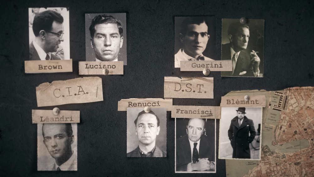 photo représentant l'organigramme de la mafia à Marseille après la guerre Jewpop