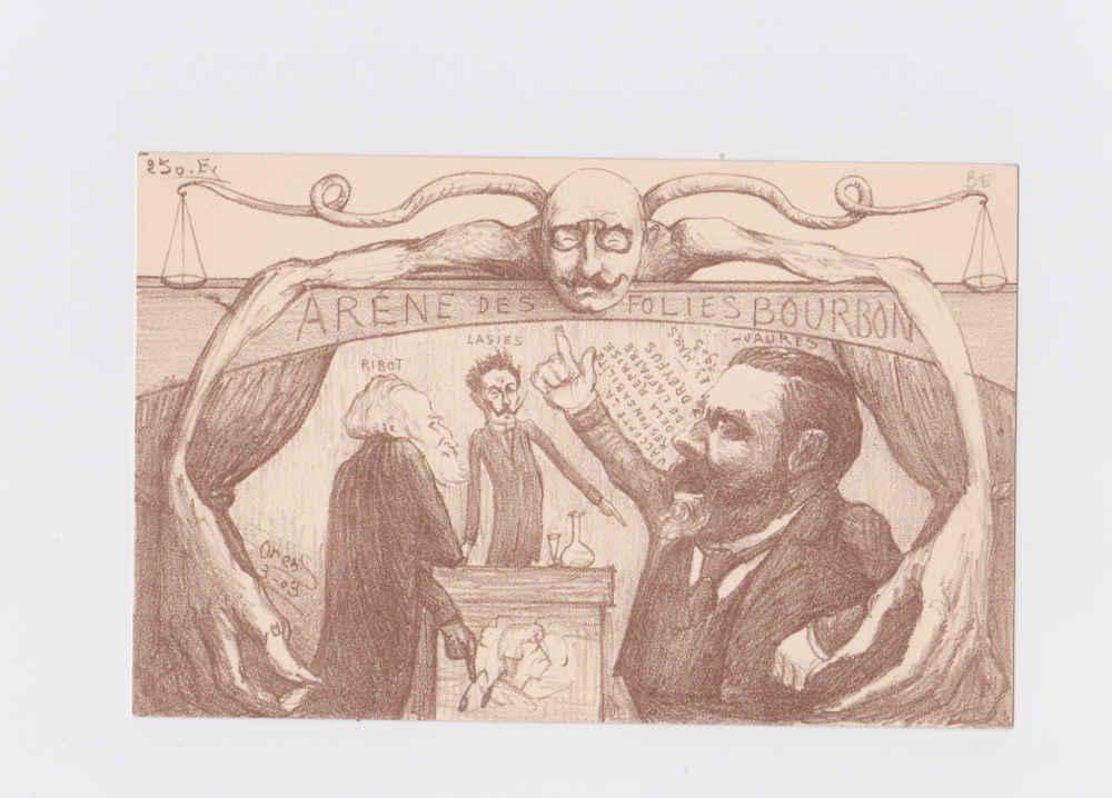 Carte postale de l'Affaire Dreyfus Jewpop