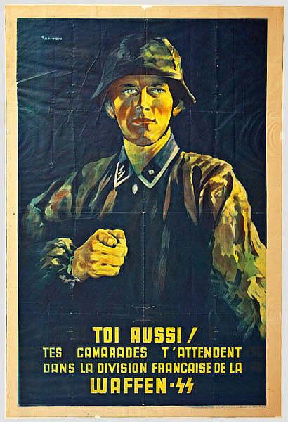 Affiche de propagande SS en français Jewpop
