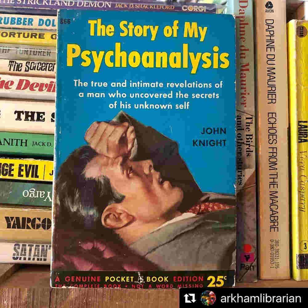 Couverture d'un pulp des années soixante psychanalyse Jewpop