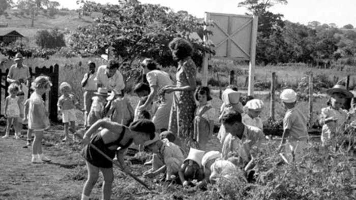 Photos d'enfants juifs dans les champs à Sosua Jewpop