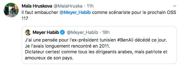 Tweet Meyer Habib Jewpop