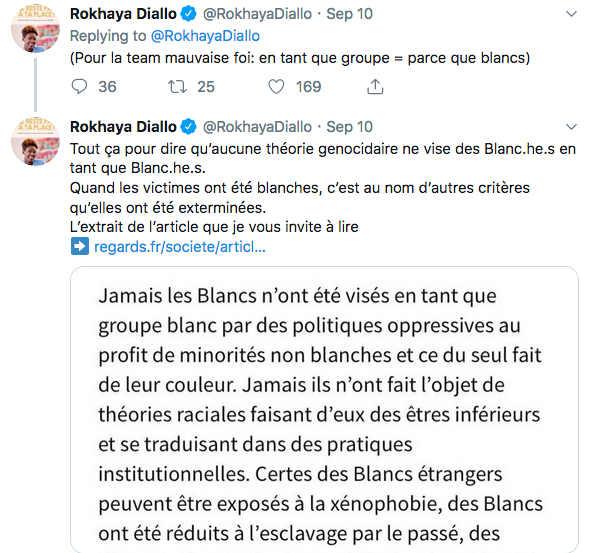 Tweet de Rokhaya Diallo Juifs nazis Jewpop