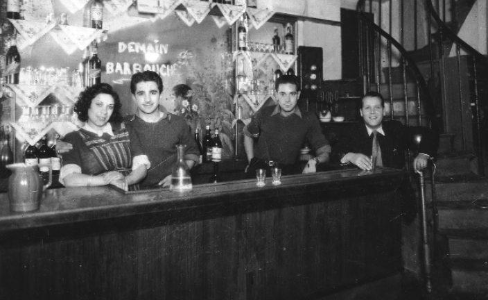 Photo du café Draï Juifs Afrique du Nord Pletzl Jewpop