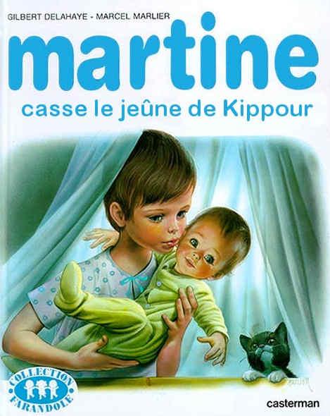 Couverture parodique Martine Kippour Jewpop