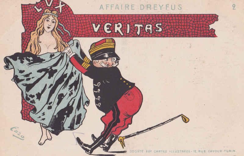Carte postale Affaire Dreyfus Jewpop