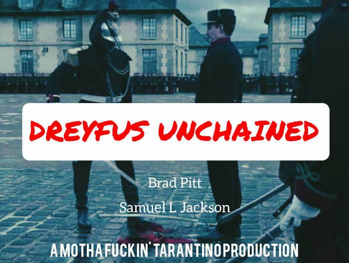 Parodie de l'affiche du film J'accuse de Polanski Dreyfus Jewpop