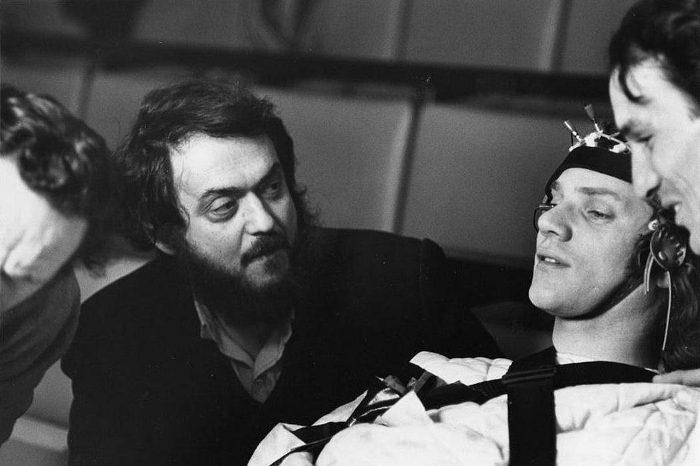 Scène du tournage d'orange mécanique de Stanley Kubrick Jewpop