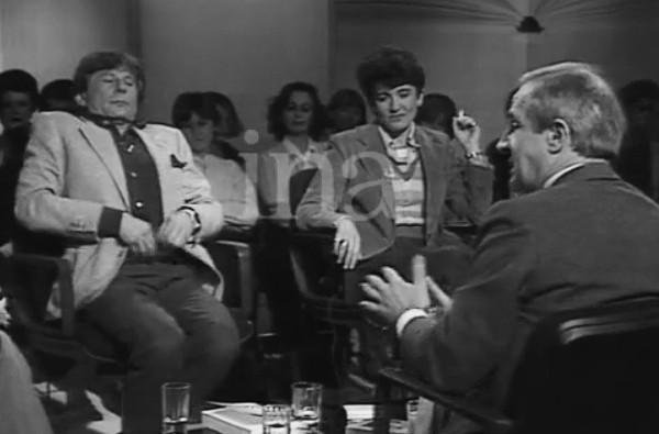 Photo de Roman Polanski et François Truffaut à Apostrophes de bernard Pivot Jewpop