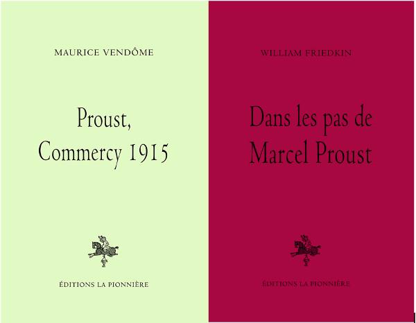 Couverture des livres Dans les pas de Marcel Proust Friedkin et Proust Commercy 1915 Nicolas Ragonneau Jewpop