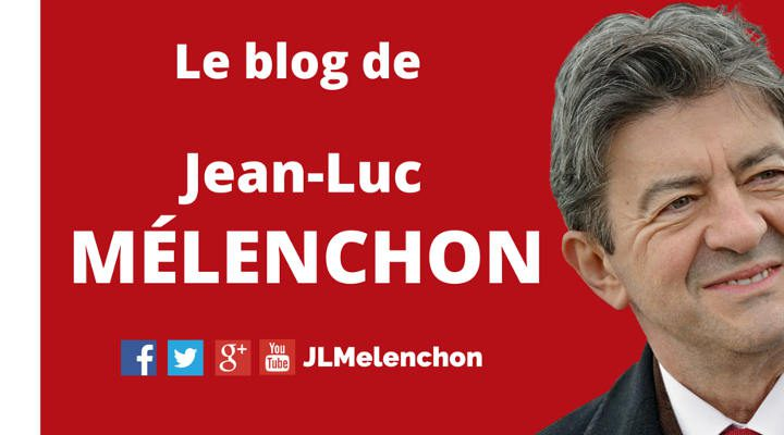 Copie d'écran du blog de Jean-Luc Mélenchon Jewpop