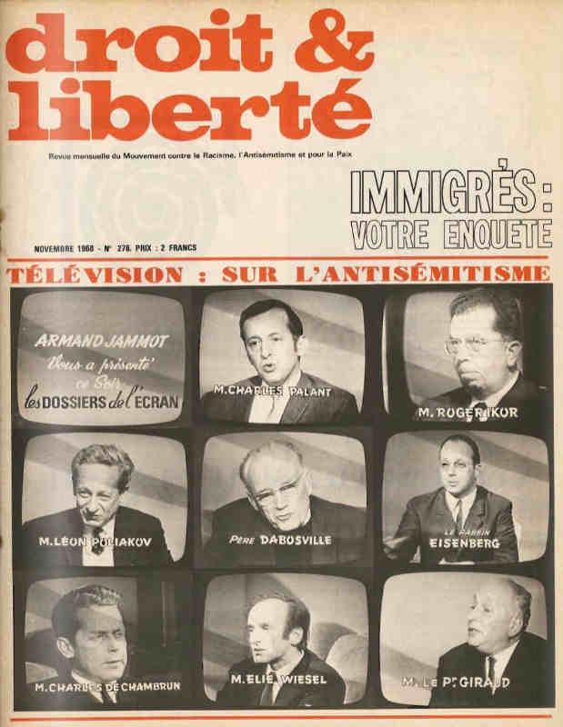 Couverture du magazine du MRAP Droit et Liberté Les Dossiers de l'Écran Jewpop