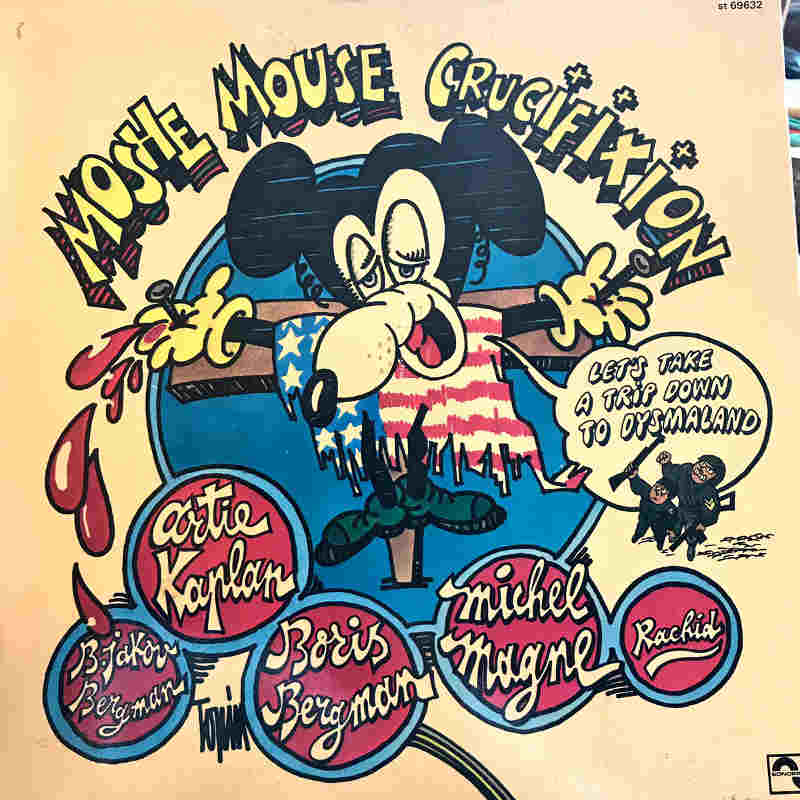 Pochette de l'album de Michel Magne Moshe Mouse Crucifixion Jewpop
