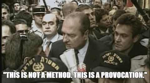 Photo de Jacques Chirac à Jérusalem Jewpop