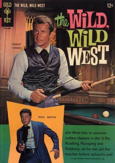Couverture d'une bd Wild Wild West avec Robert Conrad et Ross Martin Jewpop