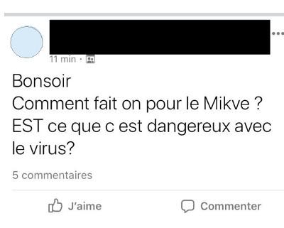 Message danger mikvé Jewpop