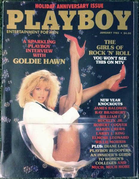 Couverture du magazine Playboy avec Goldie Hawn Jewpop